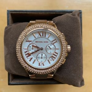 Michael Kors Rose Gold Watch WITH box and links